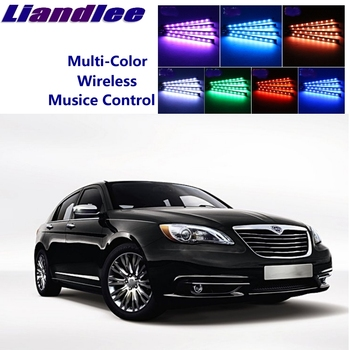 LiandLee Car Glow Interior Floor Decorative Atmosphere Seats Accent Ambient Neon light For Chrysler 200 Flavia 1