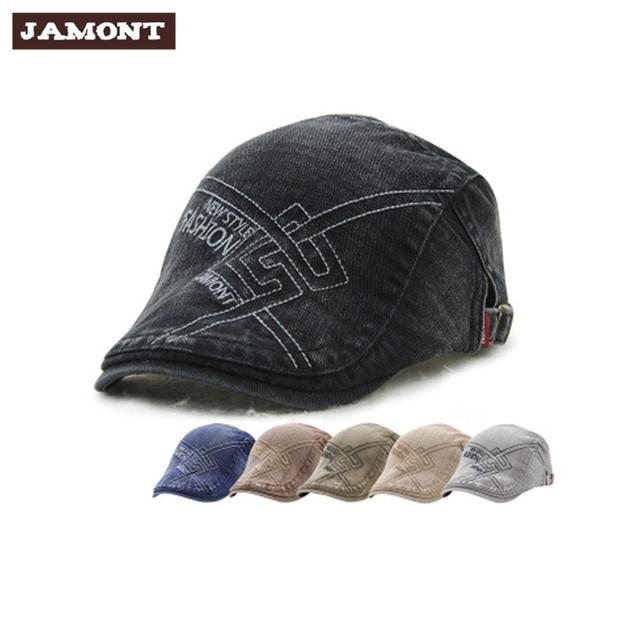 e0dc5b0bc09c0 Casual Vintage Caps New Spring Fashion Men Berets 2017 European Style  Embroidered Design Cotton Painter Beret Cap Hats for Men