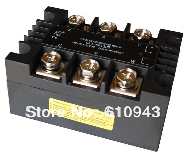 Free shipping SSR SA366120D 90-660VAC three phase solid state relay new and original sa366200d sa3 66200d gold 3 phase solid state relay 4 32vdc 90 660vac 200a