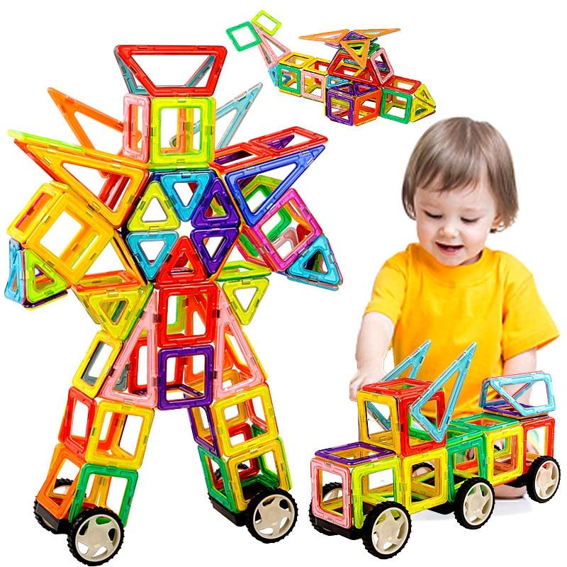 108 Stücke Große Größe Magnetische Bau Set Kinder Diy Magnetische Blöcke Designer Modell & Magnet Spielzeug Pädagogisches Spielzeug Für Kinder