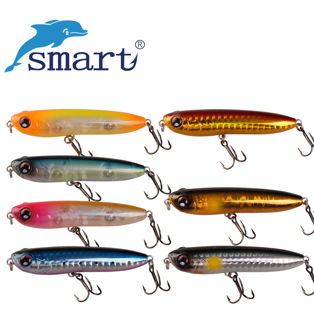 Smart 7cm/8.4g Pencil Floating Fishing Lures VMC Treble Hook For Fishing Isca Artificial Para Pesca Leurre Peche Carp Tackle smart top water pencil baits125mm27 8g vmc treble hook hard fishing lure iscas artificial para pesca leurre peche souple