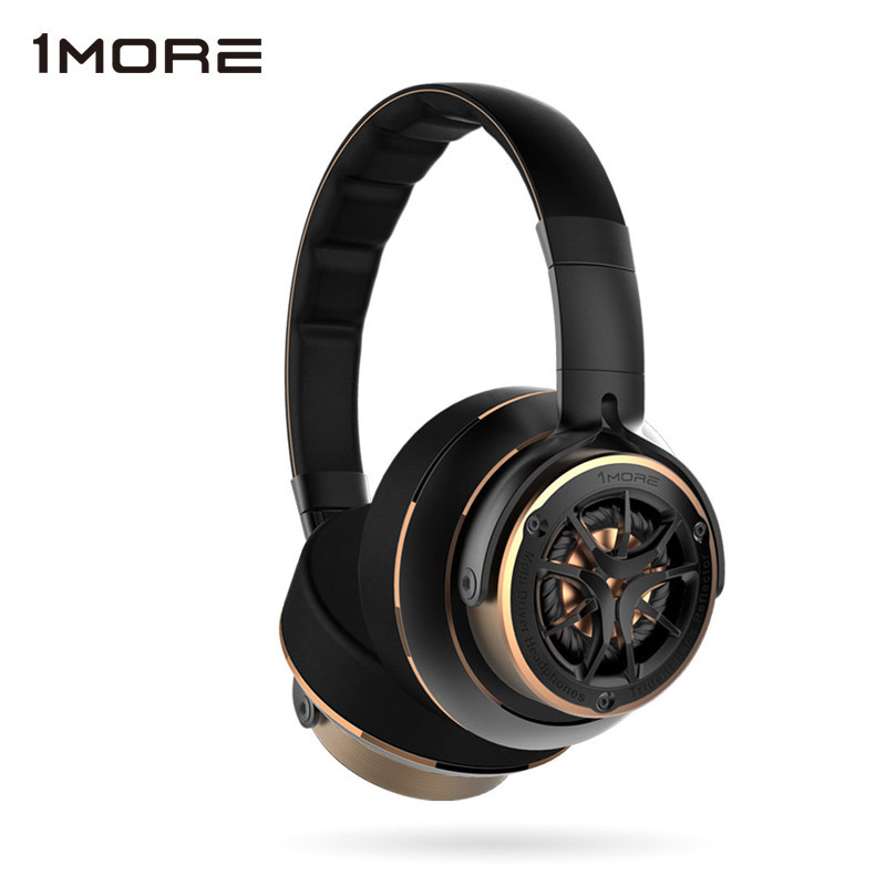 1 PIÙ H1707 Tripla Driver Sopra Le Cuffie Dell'orecchio con Microfono Mp3 Bass Hifi Archetto Delle Cuffie per iOS e Android Xiaomi