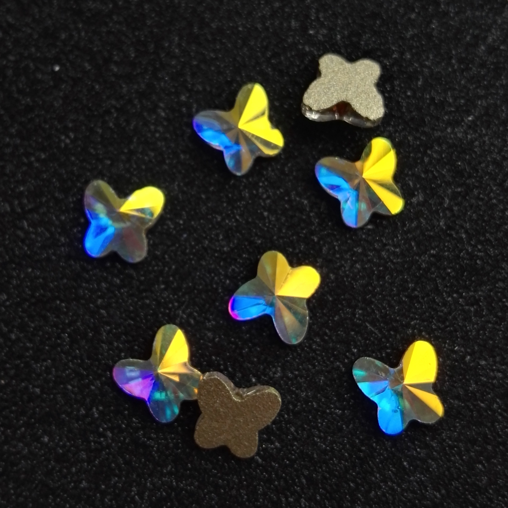 YANRUO 72pcs 6mm Crystal AB 3D Glass Crystal Nails art Rhinestone - Arte de uñas - foto 5