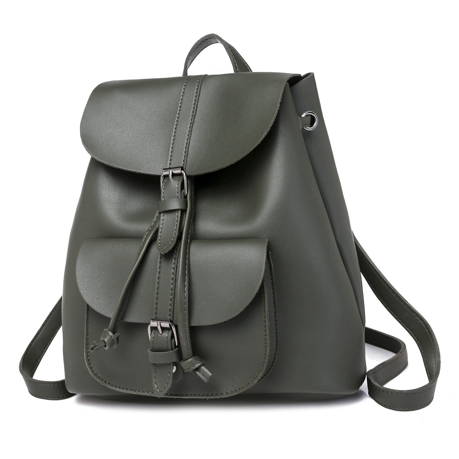 HTB1rHIybdfvK1RjSspfq6zzXFXaQ Pocket PU Leather Women Backpack Female Retro Designer Schoolbag for Teenagers Girl's Casual Large Travel Bag Laptop Backpack