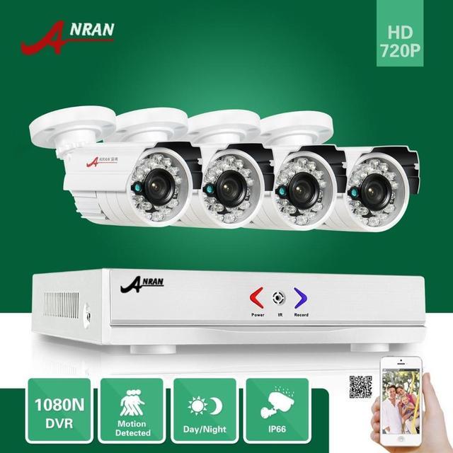 Anran 24ir día noche 1080n 4ch ahd dvr hdmi 720 p 1800TVL Interior Exterior Impermeable CCTV Cámara de Seguridad De Vídeo en Color sistema