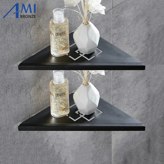 Bathroom Shelves Brushed Nickel Stainless Steel 304 Wall Shelf Shower Rack Accessories Corner
