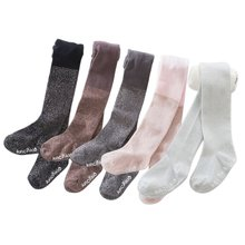 Baby Cotton Tights Pantyhose for Girls Warm Tights Children Stocking Baby Pantyhose For Kid 0-7Years все цены