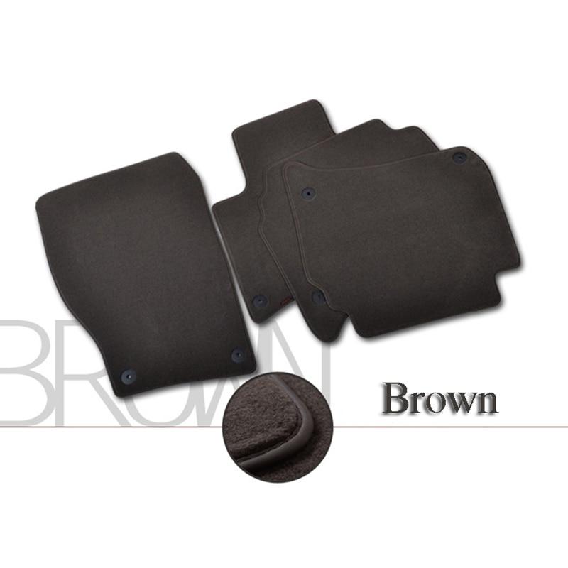 4pcs Premium Solid Nylon negro alfombras de piso del coche alfombra - Accesorios de interior de coche - foto 3