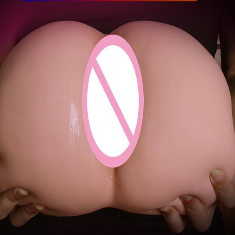 Double Trou Exquis et Dodu Big Ass avec Énorme Butt réaliste Vagin et Réaliste Anal Masturbateur Masculin Dispositif de Sexe Jouets D4-1-82