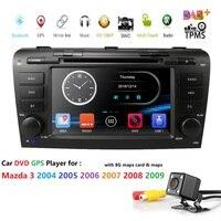 72 din Car Radio Tape Recorder Car DVD Player for MAZDA3 MAZDA 3 2004 2005 2006 2007 2008 2009 BT GPS Navigation Audio 3G RDS