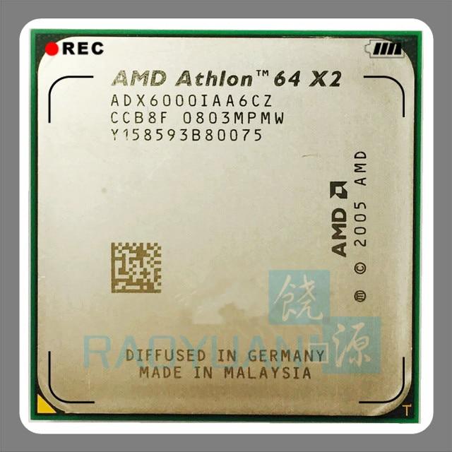 AMD Athlon X2 6000 X2 6000+ 3GHz ADX6000IAA6CZ Dual-Core CPU Processor Socket AM2 940pin
