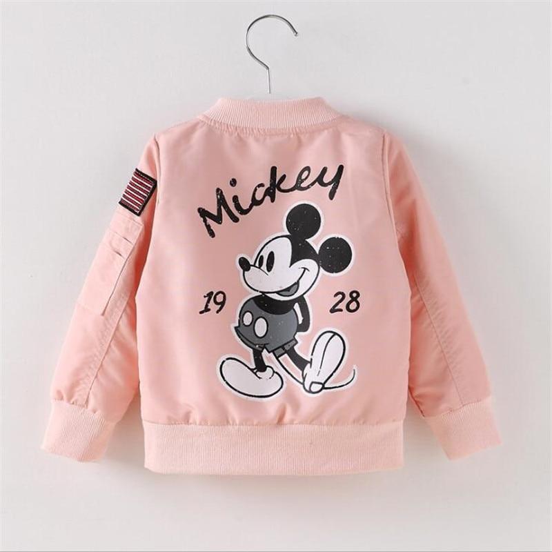 ALI shop ...  ... 32816050678 ... 5 ... Baby Clothes Cartoon Mickey Pattern Girls Boys Jackets Coats Toddler Kids Jacket Outwear Baseball Windproof Children Clothes New ...
