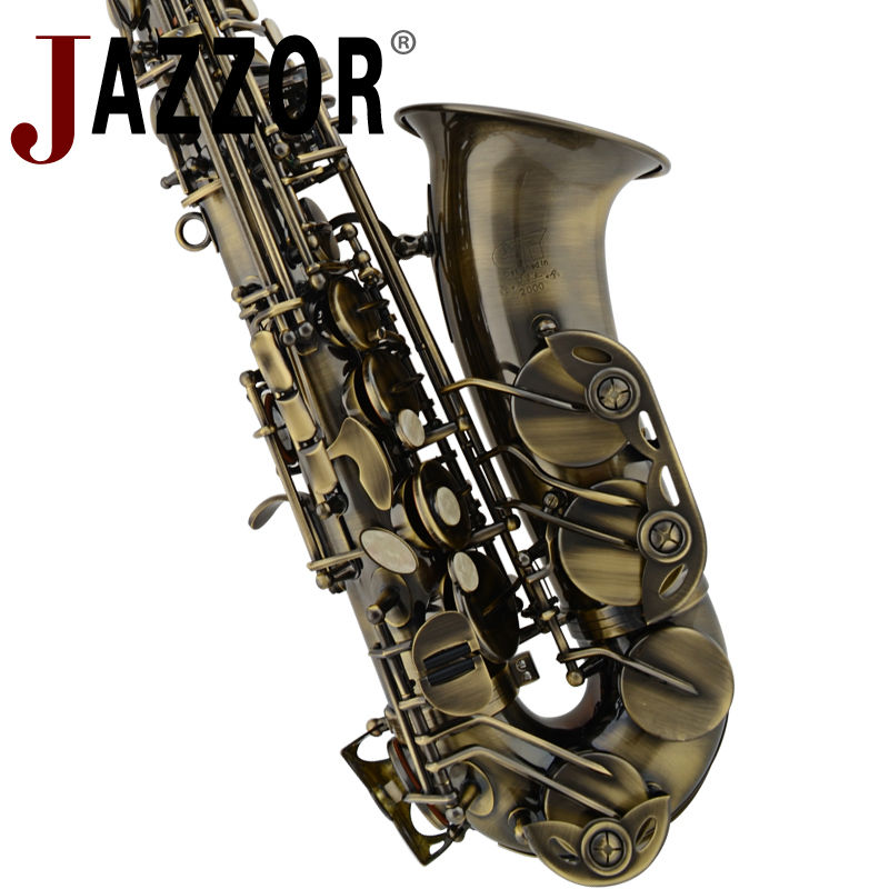 JAZZOR JYAS-2000J Professional Alto saxophone E flat Antique Copper Alto Sax High quality Bakelite Mouthpiece & Hard Case,gloves developing chinese intermediate speaking course 2 2nd ed with cd chinese edition new design