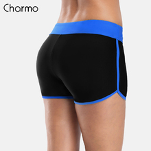 Charmo Womens Swimming Shorts Women Solid Color Trunks Sports Swim Bikini Bottom Briefs