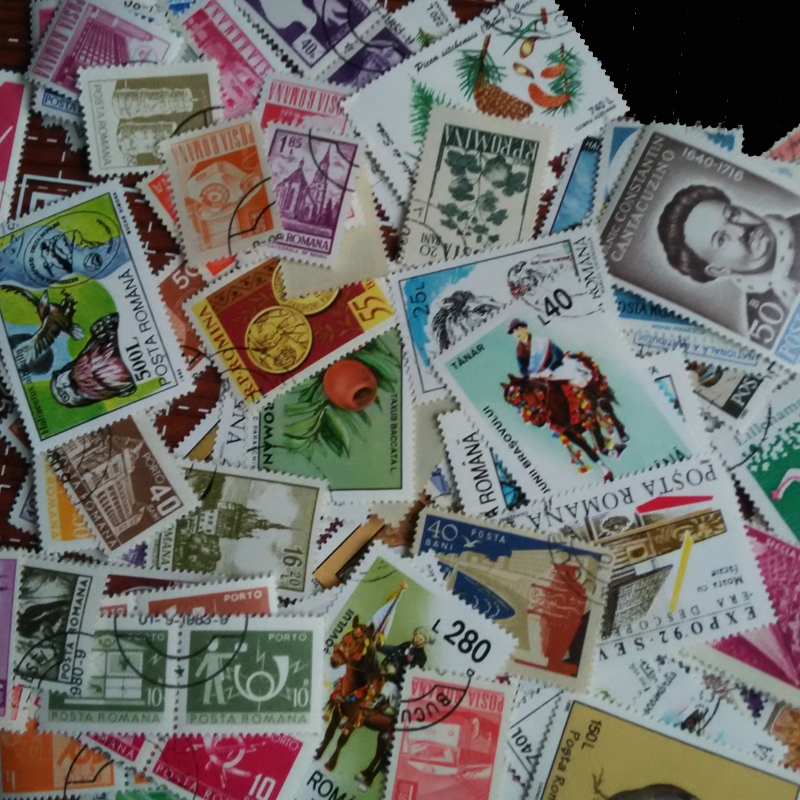50 Pcs / Lot All Different Romania Timbru Special Commemorative Canceled Postage Stamps With Post Mark  For Collection
