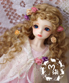NEW 1/3 BJD wig brown  long curly  hair  doll  DIY for1/3 ,1/4  ,1/6 BJD SD dollfie