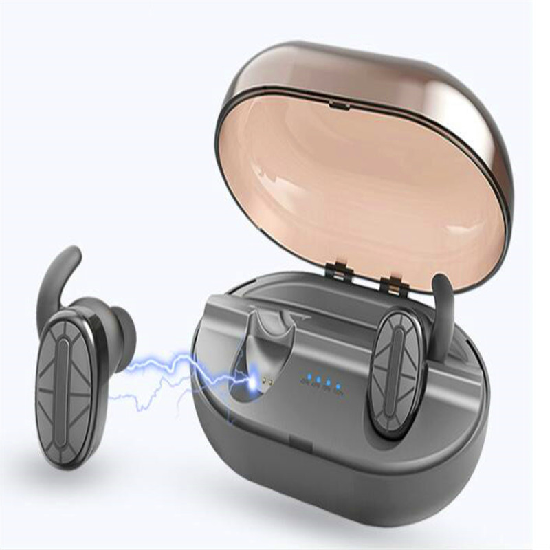 Waterproof Mini Hidden Earpods Invisible Bluetooth Earpiece Magnetic Bluetooth Headset Wireless Earplugs Silicone Charging Case