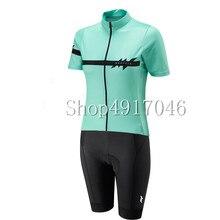 Pro команда триатлонный костюм женский рукав Велоспорт шерстяной облегающий костюм комбинезон Велосипедное трико