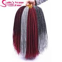 5packs/lot Sallyhair Small Senegalese Crochet Twist Braids Hair 18 2X Crochet Braids 30Roots/Pack 10 Colors Ombre Braiding Hair