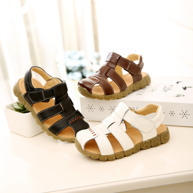 Summer Toddler Sandals High Quality Leather Sandale Enfant Garcon Soft Kids Shoes Cute Fashion Baby Sandals