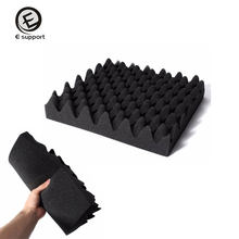 EE support 10 pièces 30X30X2cm voiture KTV mousse acoustique insonorisation insonorisation Absorption oeuf Studio amortissement isolation ventes(China)