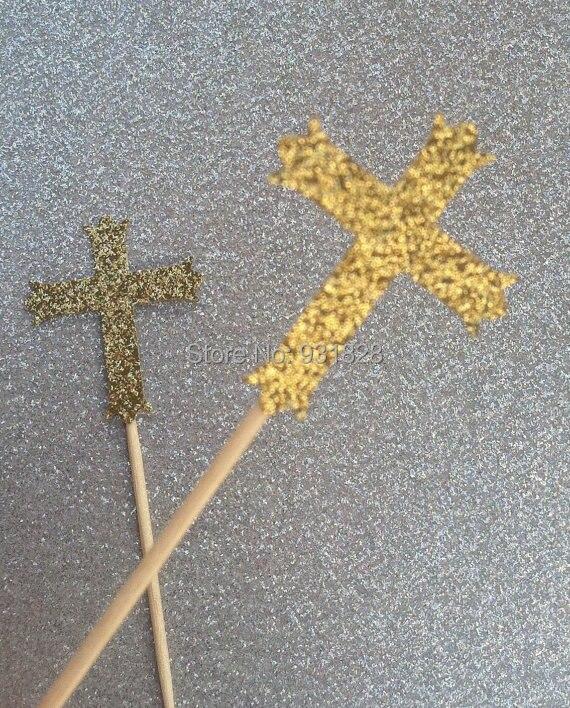 First Communion Cross Cake Topper