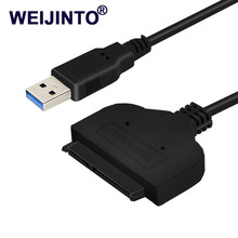 "Lowest price 2PCS SATA USB 3.0 to SATAIII Adapter Serial ATA for 2.5"" HDD/SSD 22pin Adapters Hard Disk Drive Converter Cables(China)"