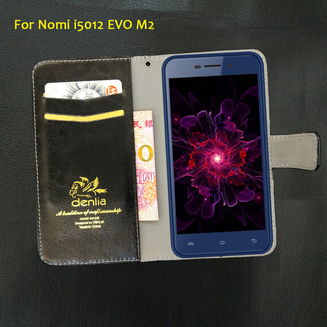 TOP New! Nomi i5012 EVO M2 Case 5 Colors Flip Luxury Leather Case Exclusive Phone Cover Credit Card Holder Wallet+Tracking