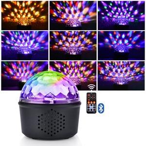 Image 2 - 9 Kleur Bluetooth Speaker Disco Ball Mini Music Audio Draadloze Dmx Stage Licht Club Draagbare Party Luid Dj Controller Projector