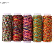 5db Rainbow Color Varrócérna Kézzel Varrás Poliészter Fiber varrócérna Szerszám Kéz Quilting Hímzés Varrócérna