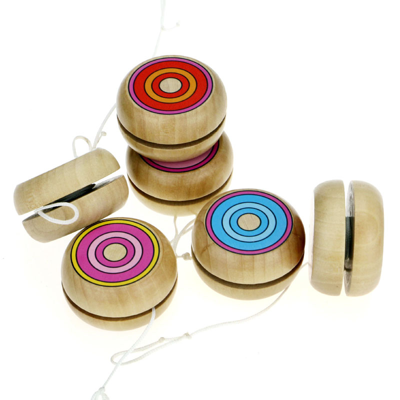 Toys & Hobbies Efficient 1pcs Yoyo Wooden Toys 4.5cm Wooden Yo-yo Ball Spin Professional Yo-yo Classic Toys For Child Gift I0056