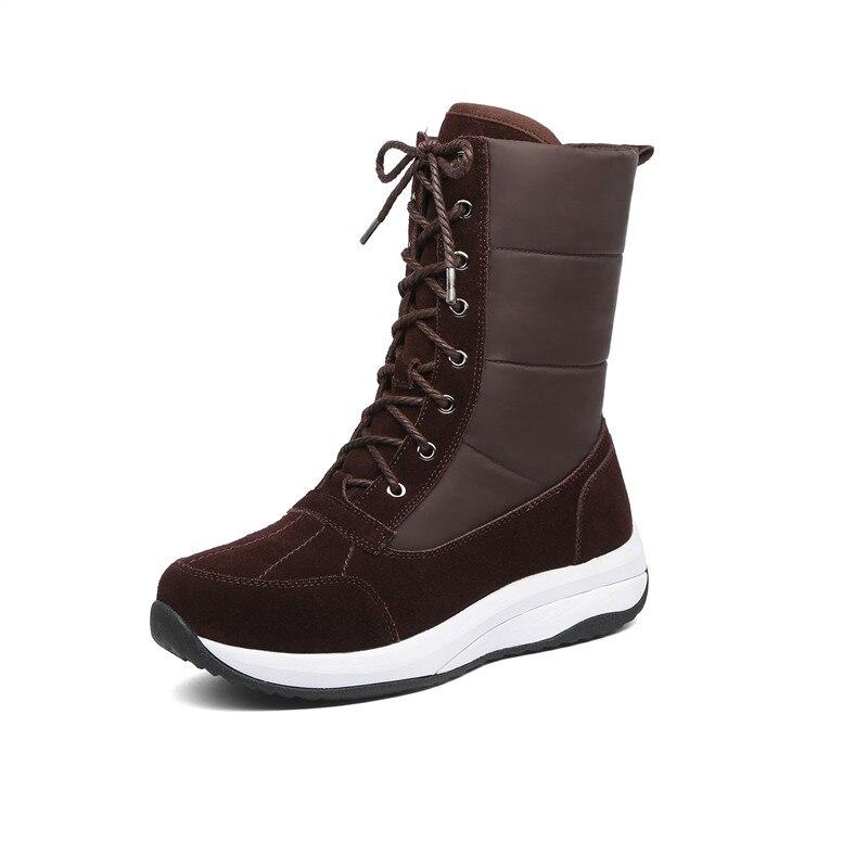 MORAZORA 2020 Nuovi stivali caviglia donne di pelle scamosciata in pelle + Imbottiture impermeabile stivali da neve di modo delle donne scarpe casual donna stivali invernali-in Stivaletti da Scarpe su  Gruppo 2