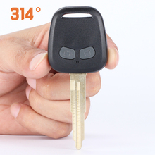 Straight Two-button Car Remote Control Key Replacement Case Shell Suit For Mitsubishi Lancer Accessories