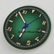 8bf2248a963 36.1mm Verde Nenhum Logotipo Janela Data Luminous Marcas Califórnia  Mostrador do Relógio + Mãos Se Encaixam Para MIYOTA 8215 820.