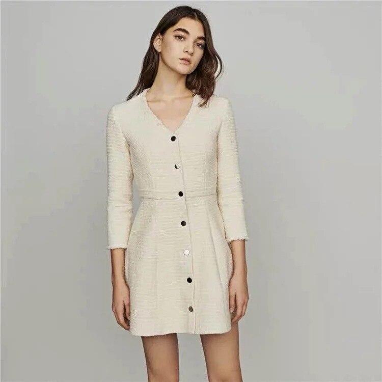 Women Dress 2019 Spring and Summer Slim A line Dress