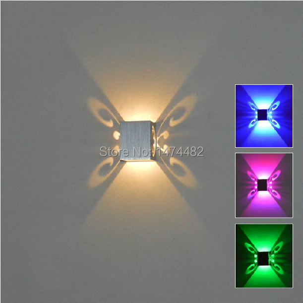 Wall Night Light Target : Indoor Lights Square LED Night lamps Mini Butterfly Luminaria Wall light Surface Mounted Light ...