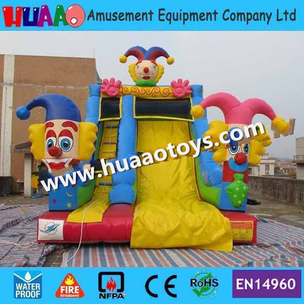 Inflatable Water Slide Repair Kit: Free Shipping Clown Circus Inflatable Slide With CE Blower