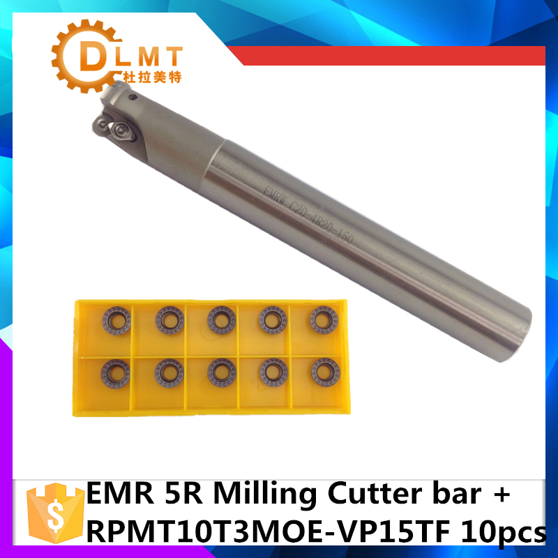 EMR C20 5R20 150 EMR C25 5R25 150 2T +10Psc RPMT10T3 Indexable Shoulder End Mill Arbor Cutting Tools, Milling Cutter Holder fabric ajx c25 28 250l high speed milling indexable end milling cutter
