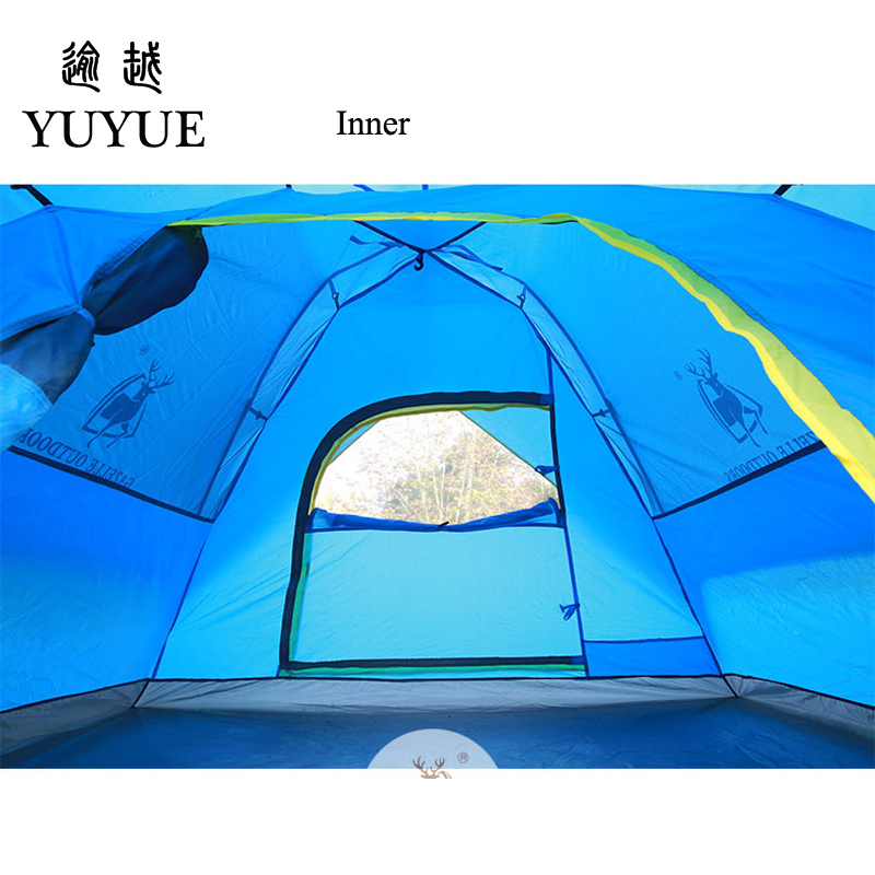 3-4 Person Pop Up Tent Quick Automatic Opening Waterproof Camping Equipment Tourism Travel Outdoors  Camping Tents 4