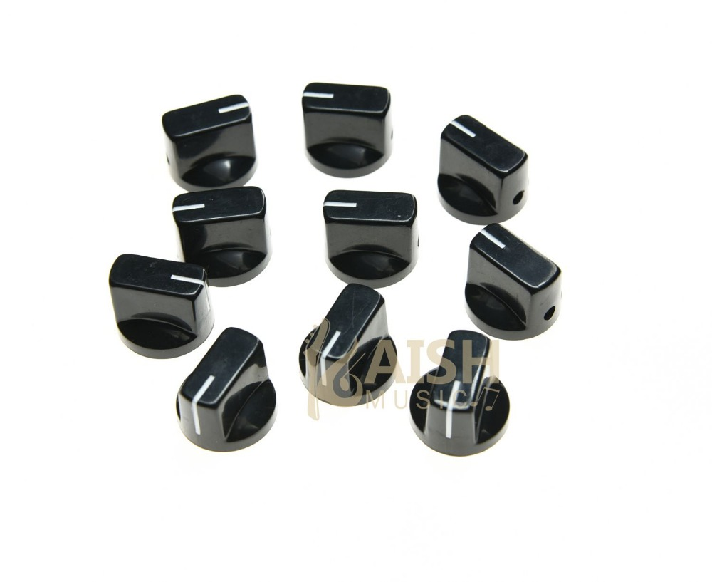 KAISH 10pcs Black Davies Style 1/4 Guitar Effects Pedal Knobs AMP Amplifier Knob K019 kaish black p90 high power sound neck