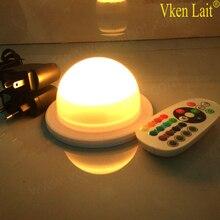 10 шт. DHL 48 светодиодов Бесплатная доставка RGB РФ беспроводной пульт дистанционного управления свет для пластиковой мебели Cube