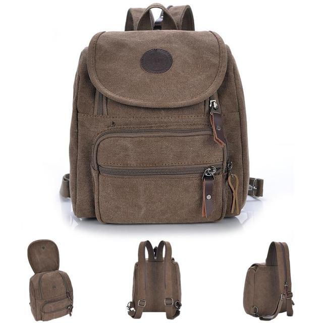 c5408202b New Canvas Multi-function Women Small Travel Backpack School Bags Ladies Crossbody  Shoulder Bag Chest Back Pack Rucksack
