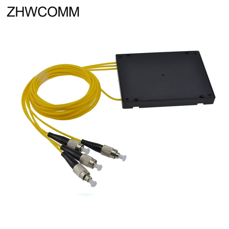 ZHWCOMM High Quality 1M FC UPC 1x3 Fiber Optical splitter 1310/1550nm PLC Coupler