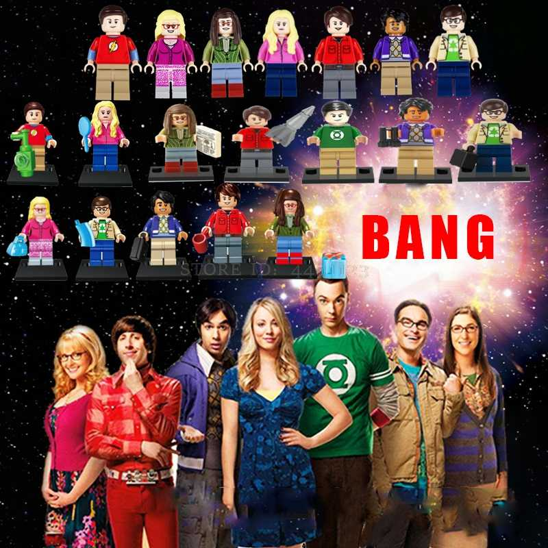 Movie Figures Toys TBBT Bang TV Sheldon Amy Leonard Penny Rajesh Howard Bernadette Blocks Toy story 4 Woody Avengers SpiderMan
