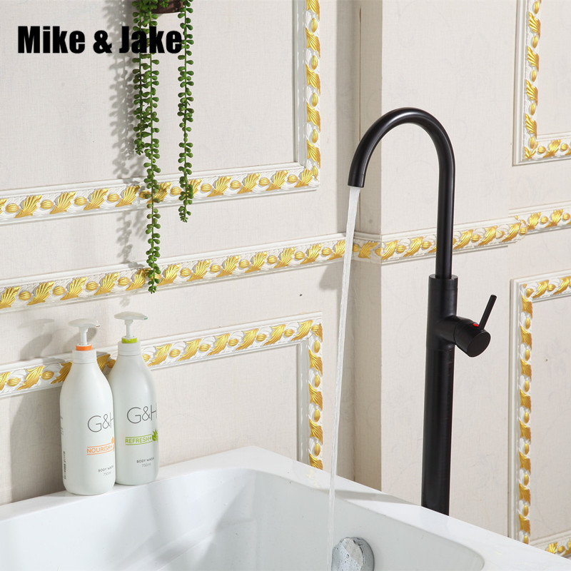 Black Floor Stand basin faucet bathtub stand tap Shower Mixer Brass Shower set Luxury Bathtub stand faucet floor stand tap bathroom waterfall bathtub floor stand faucet tap set