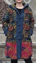 Новые продукты, перечисленные в зима 2016, оригинальный дизайн хлопок сыпучих большой ярдов женщин утолщение хлопка-ватник одежды