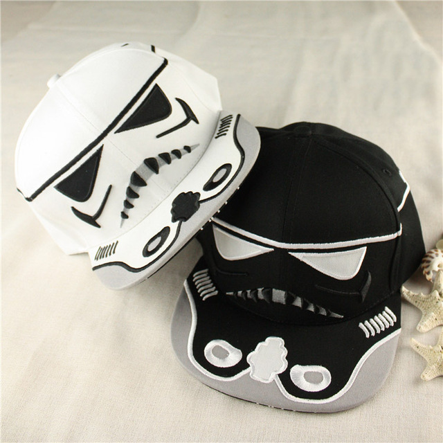 1 Piece Movie Star Wars Stormtrooper Cosplay Hat Big Face Adjustable Embroidery SnapBack Baseball Cap