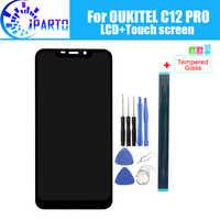 OUKITEL C12 PRO Display LCD + Touch Screen Originale Al 100% Testato LCD Digitizer Vetro del Pannello di Ricambio Per OUKITEL C12 PRO