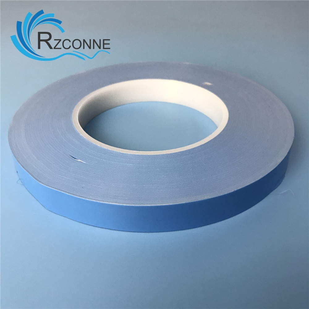 14mm (W)x 50m(L) Blue High Temperature Resistant Double Sided Adhesive Sticker For TV Backlight LED Strips Back Tape X 2pcs