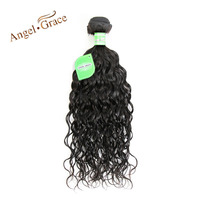 Ange Grâce Cheveux Naturel Vague Brésilienne Cheveux 100% Extensions de Cheveux Humains Naturel Couleur Remy Cheveux Bundles Livraison Gratuite